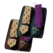 Royce Leather Luxury Travel Tie Case and Cufflink Storage