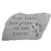 Kay Berry Dogs Leave Paw Prints Garden Accent Stone