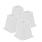 bed risers - off white set of 4
