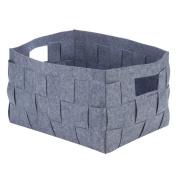woven felt bin, XL grey