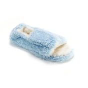 Muk Luks Women's Blue Microterry Open-toe Slippers