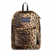 JanSport High Stakes Black/ Beige Plush Cheetah School Backpack