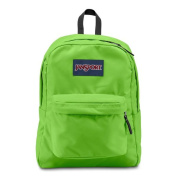 JanSport Zap Green Super Break School Backpack
