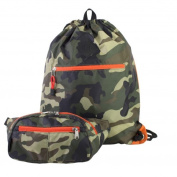 Eastsport Absolute Camo Sport Belt Bag and Drawstring Backpack