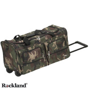 Rockland Deluxe Camouflage 60cm Rolling Upright Duffel Bag