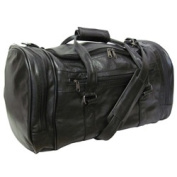 Amerileather Black Leather 50cm Carry On U-shaped Duffel