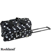 Rockland Black Dot 60cm Carry On Rolling Upright Duffel Bag