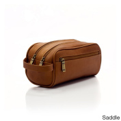 Muiska Vaquetta Leather Tomas Classic Double Compartment Travel Toiletry Kit