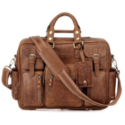 Vicenzo Leather Signature Full Grain Leather Laptop Briefcase