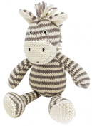 Walton Baby - Zaza Zebra Rattle - Knitted Baby Soft Toy Rattle 19cm