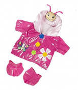 Pink Butterfly Raincoat Teddy Clothes to fit Teddy Bears 8-10 inches
