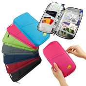 Gearonic Travel Passport Credit ID Card Cash Organiser/Document Bag