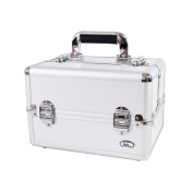 Jacki Design Carrying Aluminium Professional Make Up/ Salon Train Case with Removable Trays