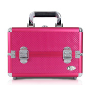 Jacki Design Carrying Aluminium Makeup/ Salon Train Case with Removable Trays