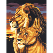 Paint By Number Kit Artist Canvas Series 9inX12inLion & Lioness