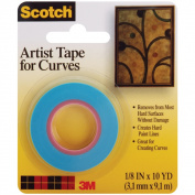 Scotch Artist Tape For Curves.125inX10yd