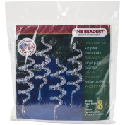Holiday Beaded Ornament Kit Crystal Spirals 17cm Makes 8
