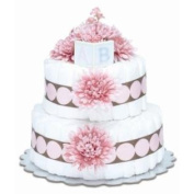 Bloomers Baby Nappy Cake Modern Pink Mums 2-Tier