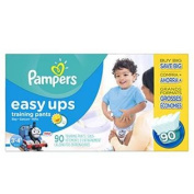 Pampers Easy Ups Training Pants Boys Nappies Size 3T4T, 90 Count