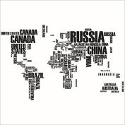 XXXL! 190cm*116cm Countries' World Map Wall Decal Wall Sticker