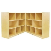 ECR4Kids Birch Fold and Lock Storage Cabinet, 8 Compartments