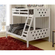 Circles Twin over Full Bunk Bed in White