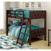 Circles Twin over Twin Bunk Bed in Dark Cappuccino