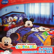 """Disney Mickey Mouse 4pc Toddler Bedding Set """"Genuine Licenced"""""""