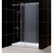 DreamLine DL-6621C-08CL Enigma-X Fully Frameless Sliding Shower Door and SlimLine 80cm by 150cm Single Threshold Shower Ba