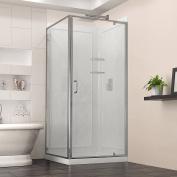 DreamLine DL-6717-01CL Flex 90cm . W x 90cm . D x 190cm - 1.9cm . H Frameless Shower Enclosure, Backwall and Base Kit, Chrome Finish