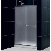 DreamLine DL-6107C-04FR Infinity-Z Frameless Sliding Shower Door, 90cm by 120cm Single Threshold Shower Base and QWALL-5 S
