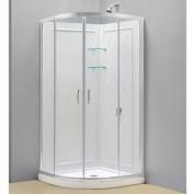 DreamLine DL-6154-01CL Prime 90cm by 90cm Frameless Sliding Shower Enclosure, Base and QWALL-4 Shower Back Walls