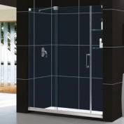 DreamLine DL-6437L-01CL Mirage Frameless Sliding Shower Door and SlimLine 80cm by 150cm Single Threshold Shower Base Left