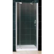 DreamLine DL-6430C-01CL Allure Frameless Pivot Shower Door and SlimLine 90cm by 90cm Single Threshold Shower Base