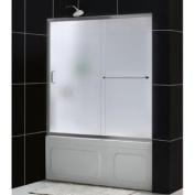 DreamLine DL-6992-04FR Infinity-Z 56 to 150cm Frameless Sliding Tub Door and QWALL-Tub Back Walls Kit