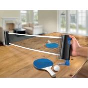 Black Series Retractable Table Tennis Set
