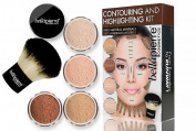 Bellapierre Cosmetics Contouring and Highlighting Kit - 5 Piece Set - Retail Packaging