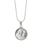 American Coin Treasures Silver Philippines 20 Centavos Sterling Silver Pendant Coin Jewellery