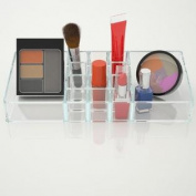 High Quality Cosmetic Organiser Acrylic Makeup Storage Caddy. Ideal for Vanity Countertop or Bathroom Use. Lipstick Stor