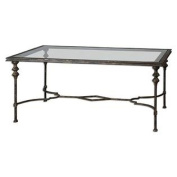 Uttermost 24364 Quillon Glass Coffee Table