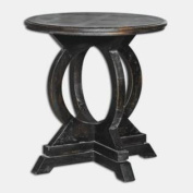 Uttermost 25630 Maiva - 70cm Accent Table, Black Finish