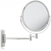 Jerdon JP7808C 20cm Wall Mount Makeup Mirror with 8x Magnification, Chrome Finish