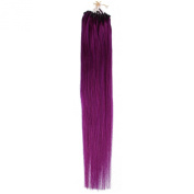 Beauty7 Loop Micro Beads Ring 100% Remy Human Hair Extension loop hair extension Fashion Hair Colours Purple Straight Hair Style 50g Weight 3g/strand