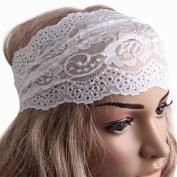 Bluelans® Elegant Women Lace Headwrap Yoga Elastic Headband Flower Girls' Hair Accessory Gift
