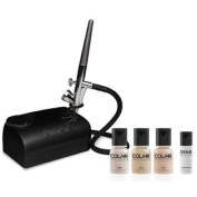 Dinair Airbrush Makeup Kit Basic One Speed Compressor Fair Shades