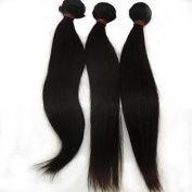 Lanova Beauty 100% Unprocessed Virgin Malaysian Hair Silky Straight Natural Hair Extensions 3Pcs/Lot Size:46cm 50cm
