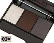 MaxDona Compact Eye Brow Powder Palette - 3 Colour Eyebrow, Waterproof, Long Lasting Professional Makeup Set