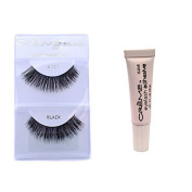 12 Pairs Creme 100% Human Hair Natural False Eyelash Extensions Black #117 Dark Full Lashes by Creme Eyelash