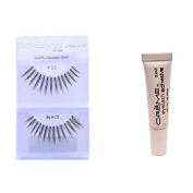 12 Pairs Creme 100% Human Hair Natural False Eyelash Extensions Black #13 Thin Long Natural Lashes by Creme Eyelash