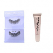 12 Pairs Creme 100% Human Hair Natural False Eyelash Extensions Black #213 Natural Long Lashes by Creme Eyelash
